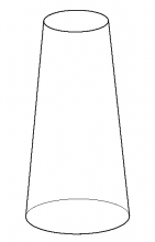 large cone line drawing